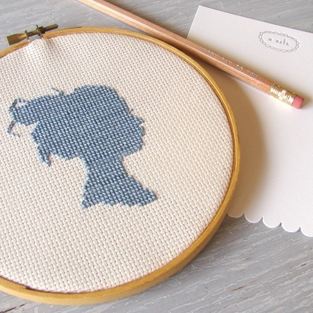 Silhouette cross-stitch