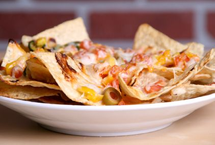 Rocco's Loaded Nachos with Turkey, Black Beans and Salsa