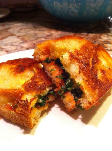 BBQ cheddar and kale grilled cheese | I'm In The Kitchen [Yams Everyw ...