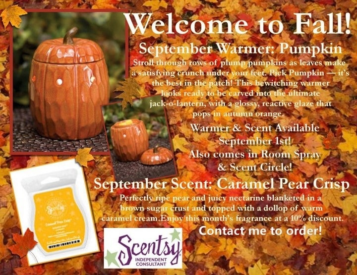 OF THE MONTH! PUMPKIN! With our Scent of the Month! Caramel Pear crisp ...