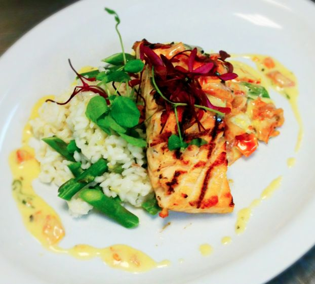 Meyer Lemon and Asparagus Risotto, Roasted Tomato and Basil Buerre ...