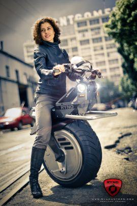 RYNO Motors' single-wheeled electric scooter.