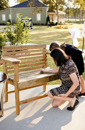 """Bench """"Guestbook"""" idea"""