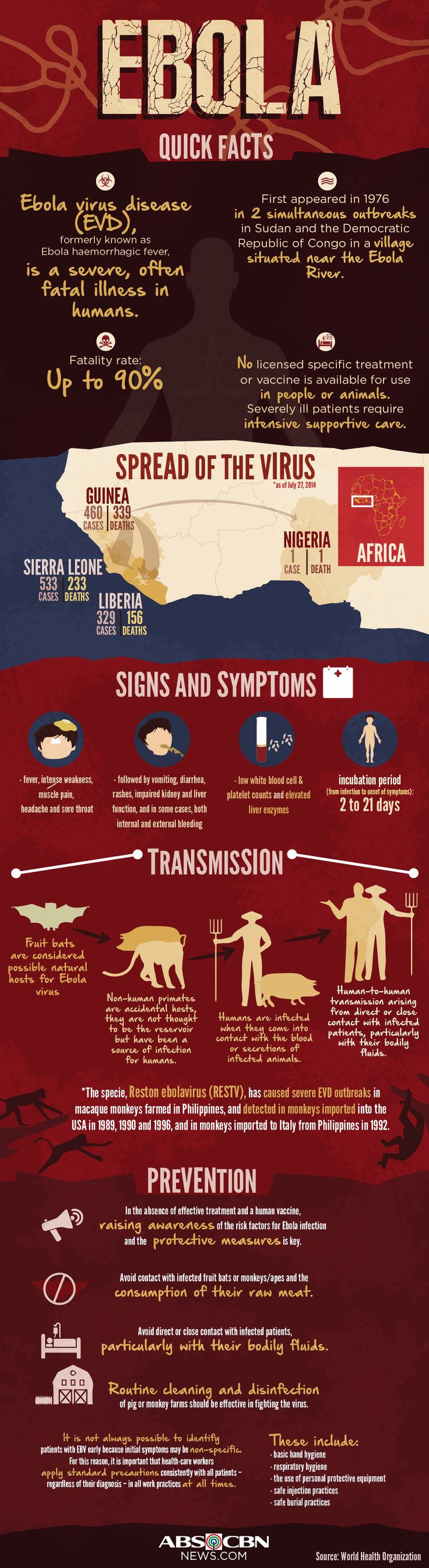 INFOGRAPHIC: Ebola quick facts | ABS-CBN News ----> Follow http://www.pinterest.com/TruckSchoolInfo/what-you-need-to-know-about-the-ebola-virus/ for more facts about the Ebola Virus!