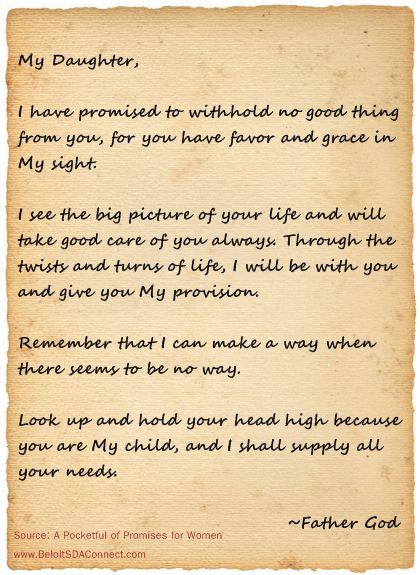 encouragementletterfordaughterretreat love letter from god my god