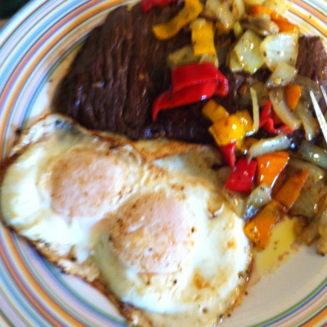 Steak And Eggs With Smoked Paprika Recipe — Dishmaps