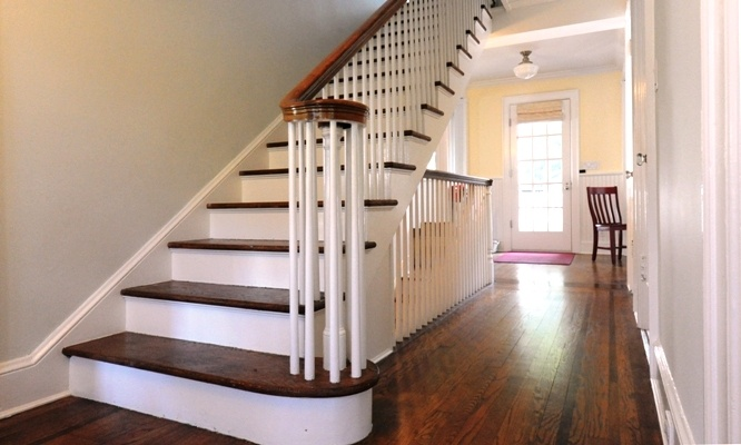 open stairs to basement for the home pinterest