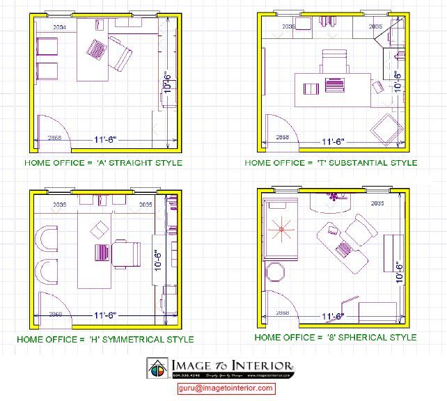 Office layout design 4 room office oficina coworking for Bedroom office design layout