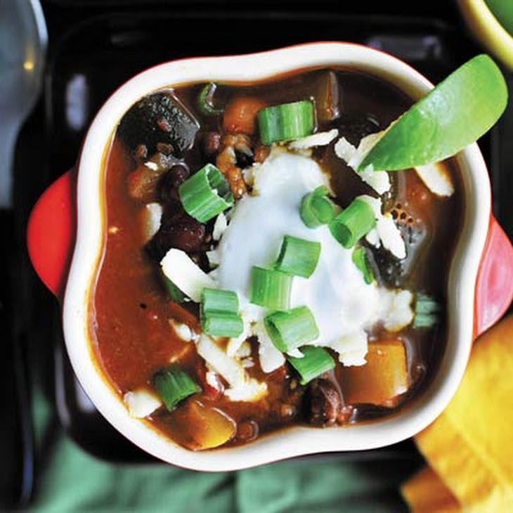 Smoky Chipotle Vegetarian Chili Recipe - fixable for non-canned items.