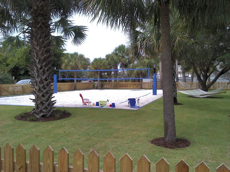 Backyard Sand Volleyball Court : Found on volleyballusacom