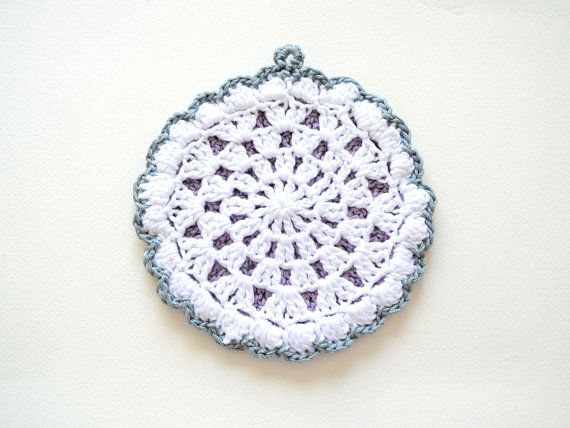 Decorative Crochet : Decorative Crochet Potholder Cotton by chicmix on Etsy, $35.00