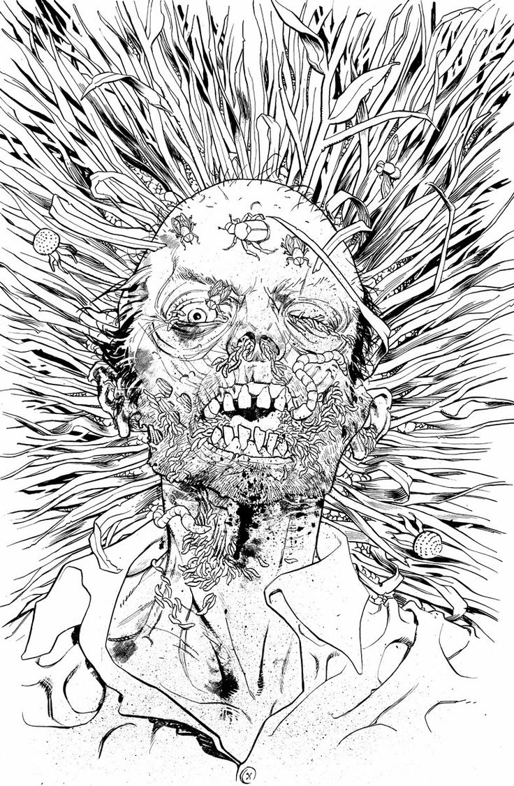 Zombie Line Art : Pin zombie art by rob sacchetto on pinterest