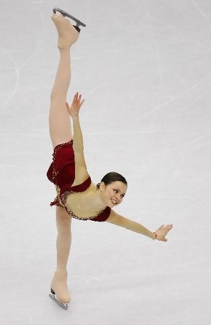 Sasha Cohen, her flexibility is insane!
