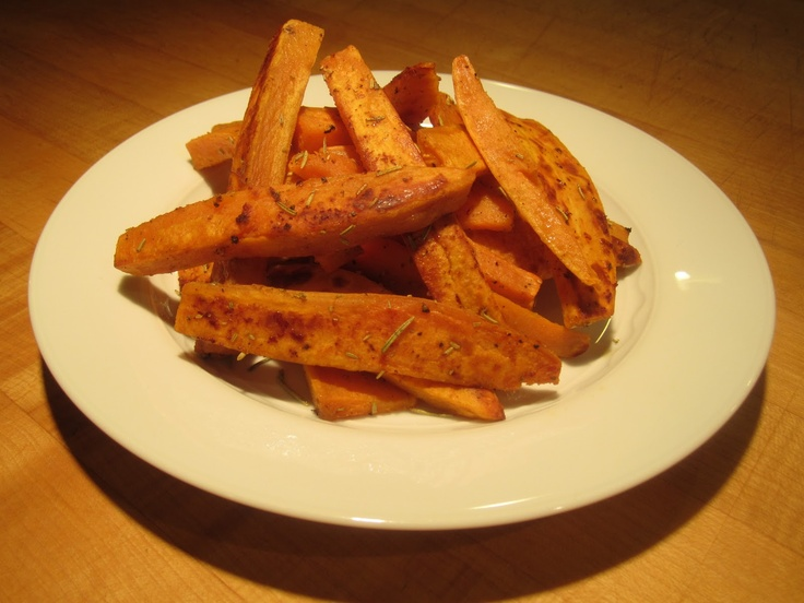 Rosemary Garlic Sweet Potato Fries Recipe — Dishmaps