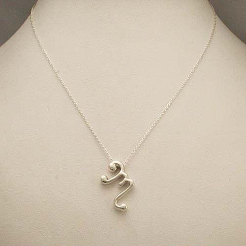 monogram m necklace m