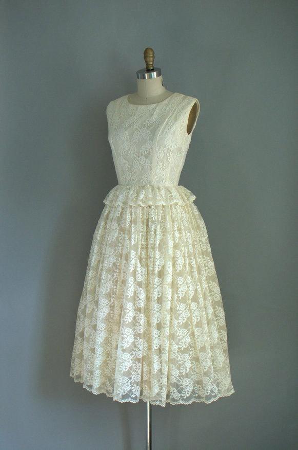 1950s Wedding Dress Vintage Dresses Pinterest