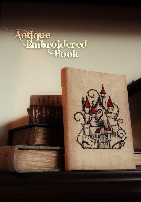 embroidered book