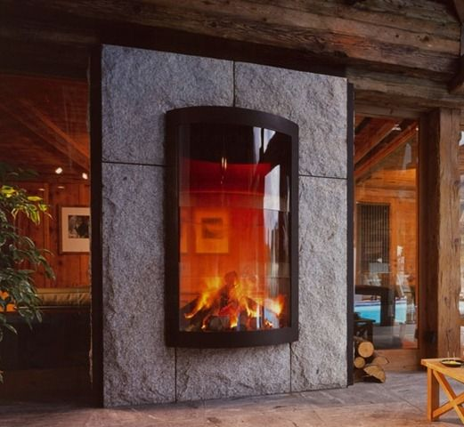 See Through Fireplace Cool For The Home Pinterest