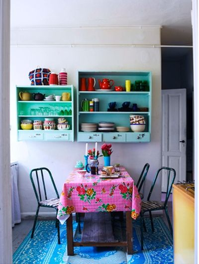 Open shelves and colour
