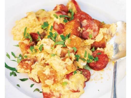 Chorizo Scrambled Eggs | Food | Pinterest