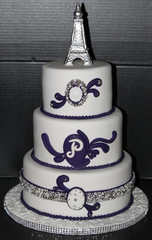 Purple/Silver Wedding
