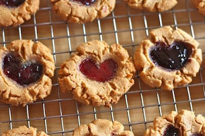 So cute - PB&J thumbprint cookies