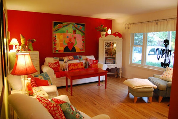 Red And Cream Living Room Ideas For The Home Pinterest
