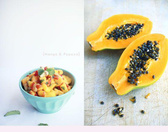 Mango Papaya Salad with Cashews   The Flourishing Foodie