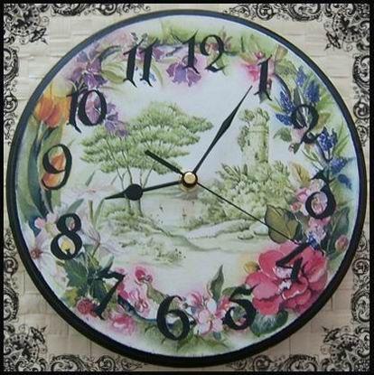 "spring time"" - decoupage clock"