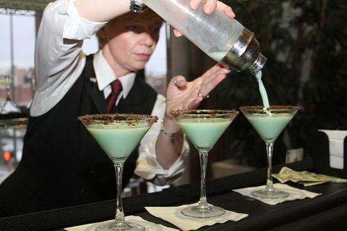 Thin Mint Cocktail | Miss A Food | Pinterest
