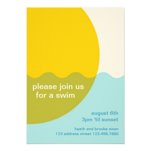 Modern Pool Party Invitation Template