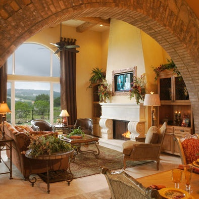 Tuscan Style Tuscan Decorating And Living Rooms On Pinterest ...