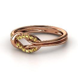 Citrine & Rose Gold <3 #Jewelry