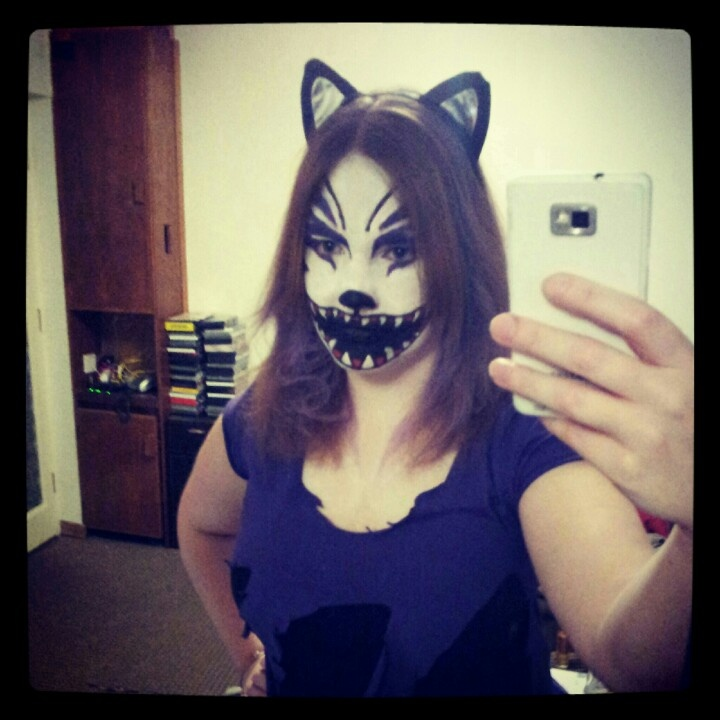 Scary Cheshire Cat makeup Halloween Make Up Pinterest - Scary Cat Makeup