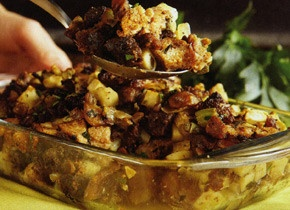 Brown Bread Stuffing with Chestnuts, Apples, and Sausage | Recipe