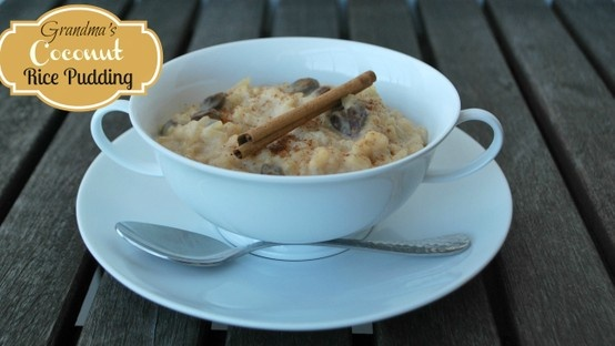 The best EVER coconut rice pudding made with minute rice. Tastes ...