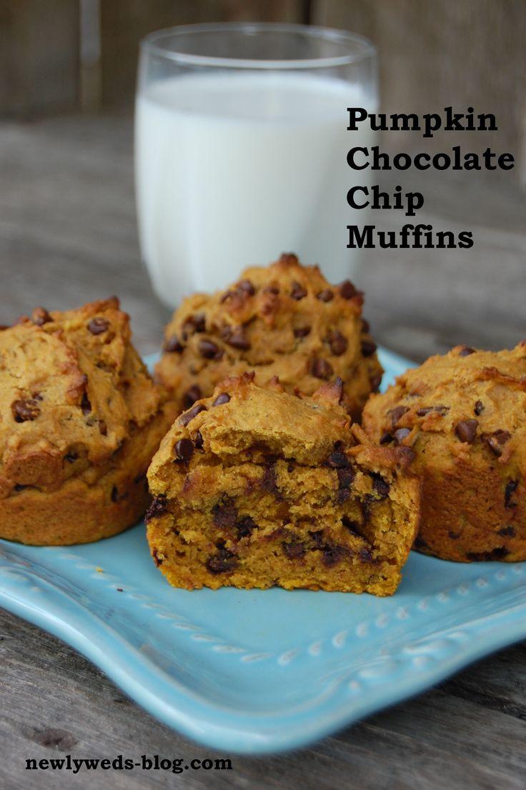 ... Chip Pumpkin Muffins- moist, chocolatey and so very addictive