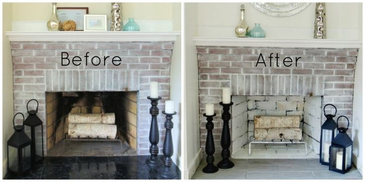Fireplace makeover before and after for Fireplace renovations before and after
