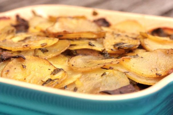 Potato and mushroom gratin from WhatWouldCathyEat.com - totally going ...