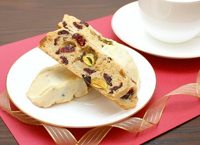 Biscotti with cranberries and pistachios...APPLE A DAY: Cookies