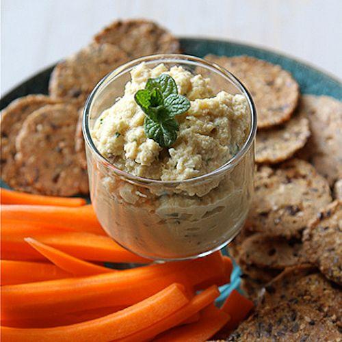 Artichoke Hummus Dip with Hazelnuts & Garbanzo Beans | Recipe