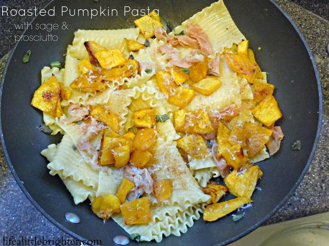 Roasted Pumpkin Pasta w/ Sage & Prosciutto // Life a Little Brighter