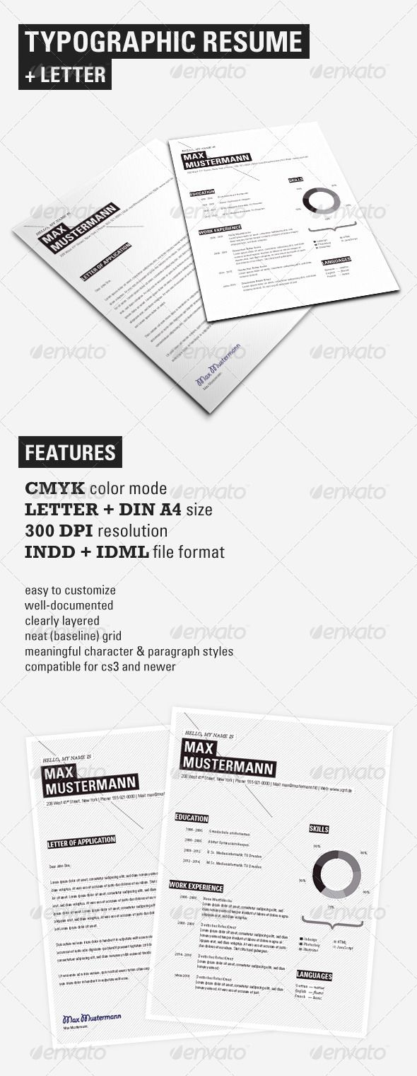 setting up a resume in indesign diepieche tk typographic resume set resume design setting up a resume in indesign 25 04 2017