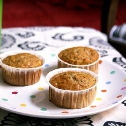 Banana Nut Muffins + Maple-Bourbon Glaze | Cupcakes, Muffins & Petit ...