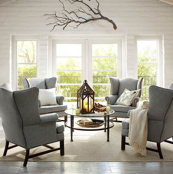 Wing chairs living rooms pinterest for Wing chairs for living room