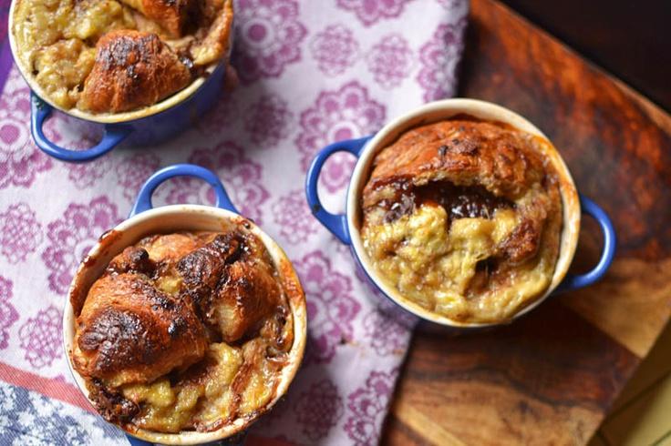 Nutella Banana Bread Pudding | The Little Ferraro Kitchen