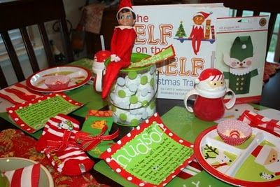 Elf on the shelf... Arrival breakfast. MUST do this!