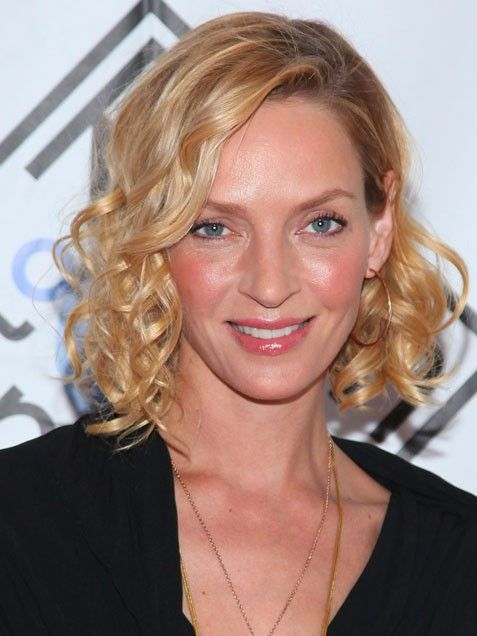 uma thurman hairstyles : Uma Thurman Beauty: Hair Inspiration Gallery: Curly Hairstyles Pi ...