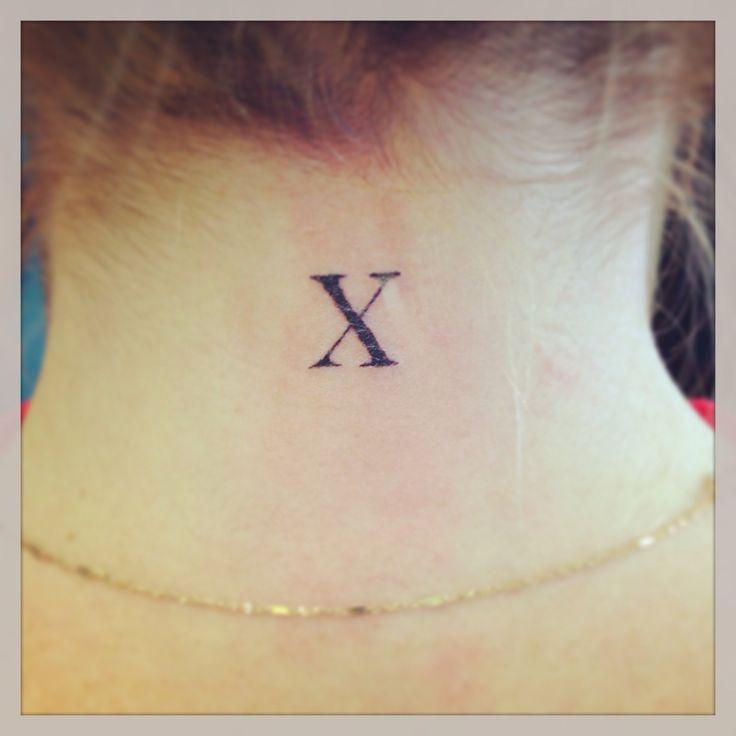 Roman Numeral 10 | Tattoos | Pinterest