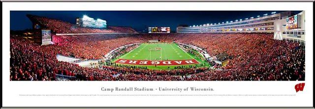 Panorama view of Camp Randall Stadium. Find yourself. Frame it.